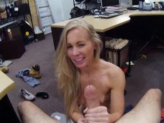 Tight blond bimbo sells her...