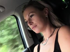 Hard car sex with Alena a...