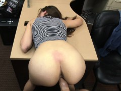 Sexy babe desperately fucks...