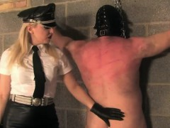 Mean domina punishes...