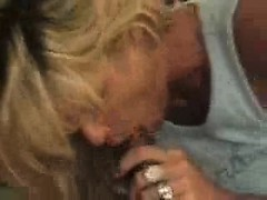 Blonde milf has a bbc over...