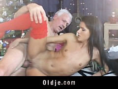 Old man gets banged by his...