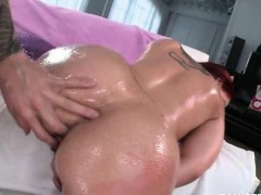 Oily hooker gets ass hole...