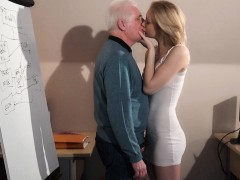 Young blonde fucking older...