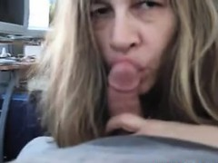 Mature Whore Sucks Cock...