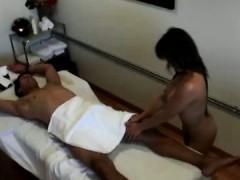 Asian masseur slides all...