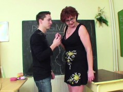 German Milf Teacher show...