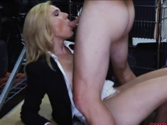Hot blonde milf sucked and...
