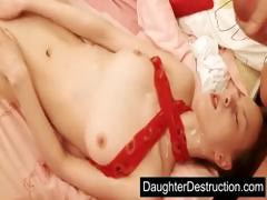Two daughters fucked by daddy