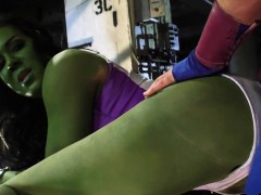 Green Superhero Getting...