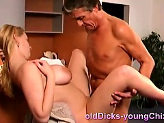 busty blonde fucking old perv