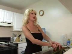 Fucking a busty blonde