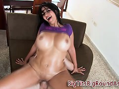 Curvy busty slut hard fucking
